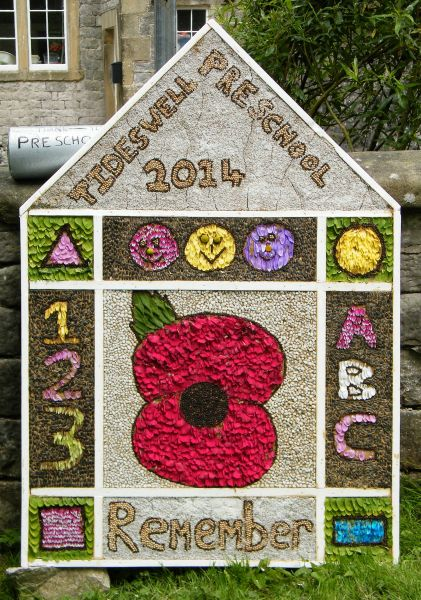 Tideswell 2014 - Pre-School Well Dressing